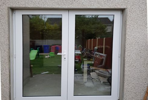 French doors triple glass, pvc doors